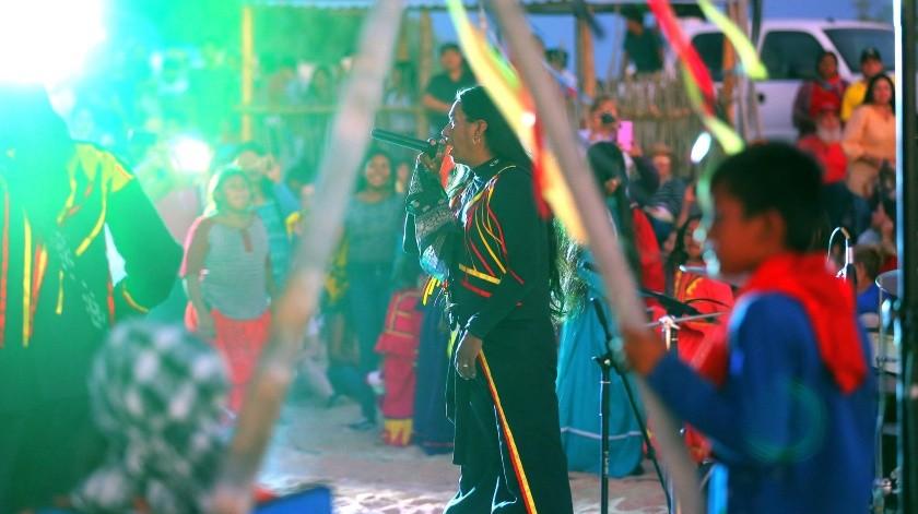La presentación del grupo Hamac Caziim fue parte importante de la fiesta.(Eleazar Escobar)