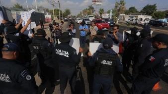 Protesta Policía Federal en Hermosillo contra GN