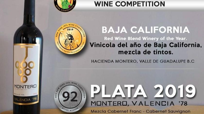 Montero es nombrada la vinícola del año en BC en la categoría de mezcla de tintos