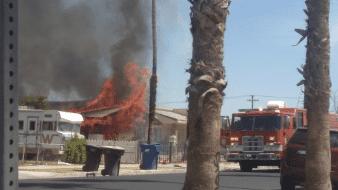Ola de incendios en el condado Imperial