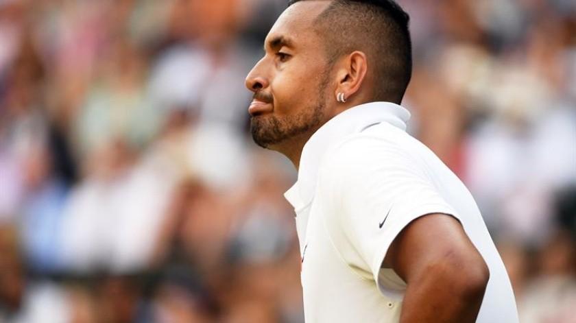 El australiano Nick Kyrgios cuestionó en rueda de prensa por qué tenía que disculparse con Rafael Nadal al lanzarle una pelota al cuerpo durante su partido de segunda ronda.(EFE)