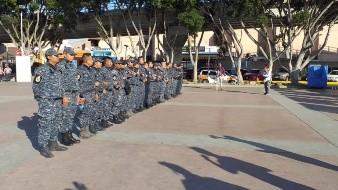 Policía Federal de Gendarmería se manifestó en El Chaparral