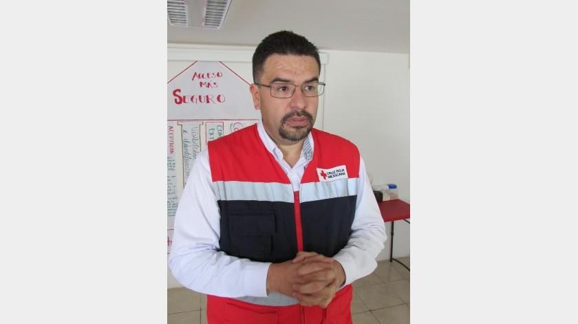 El presidente del Consejo Directivo de Cruz Roja Agua Prieta, Carlos Ramírez, informó sobre la reducción de llamados falsos.(Diyeth Z. Arochi)