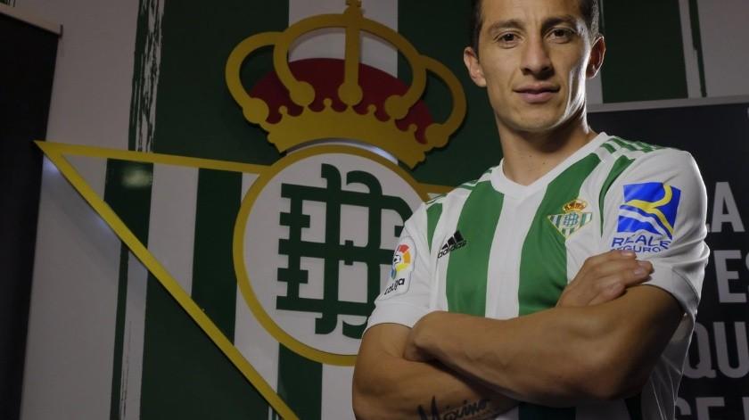 Andrés Guardado y Betis buscan alargar su contrato hasta 2022.(Twitter)