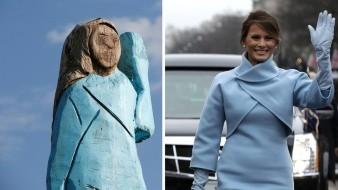 VIDEO: Estatua de Melania Trumpno resulta como se esperaba