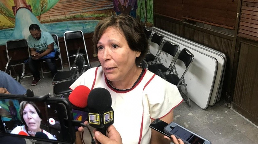 María Trinidad Ruiz señaló que cada vez hay menos hablantes de la lengua yaqui.(Mayra Echeverría)
