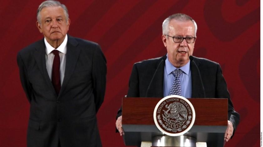 Andrés Manuel López Obrador y Carlos Urzúa(Agencia Reforma)
