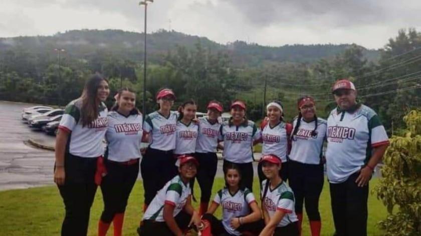 Sonora, representando a México, ganó el subcampeonato en Latinoamericano Femenil 13-14 de Softbol.(Cortesía)