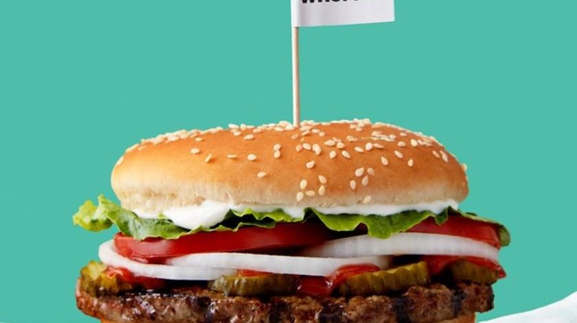 "Nueva hamburguesa hecha de ""carne"" vegetal(Tomada de la Red)"