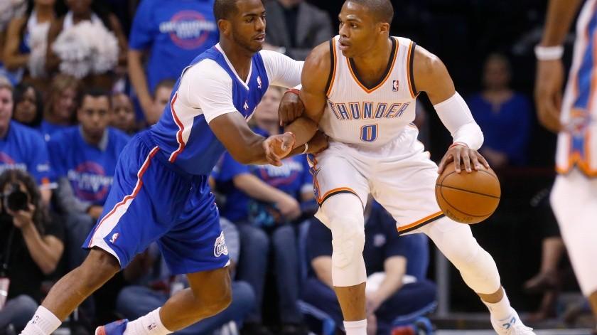 Rusell Westbrook por Chris Paul acuerdan Thunder y Rockets(AP)