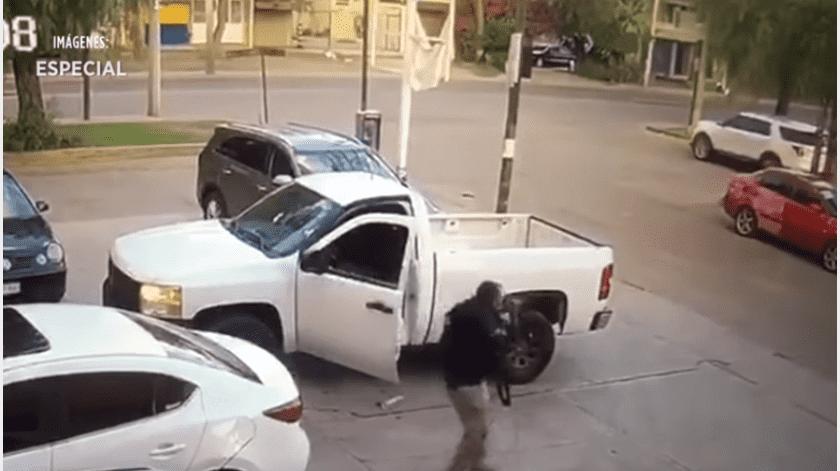 Los elementos respondieron a la agresión armada.(Captura de video.)