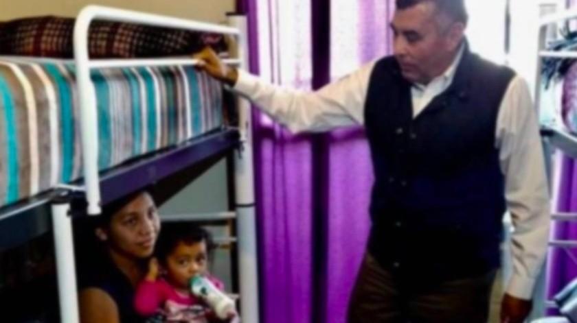 Como ya no hay prácticamente cupo en los 32 albergues y refugios que opera la sociedad civil en la entidad, Rueda Gómez reveló que varios de los migrantes viven en hoteles y departamentos, que de manera gratuita o a bajos costos les ofrecen ayuda.(Cortesía)
