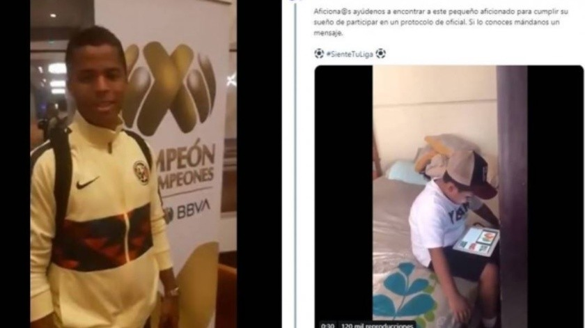 Giovani hizo una invitación inesperada al niño.(Twitter/  @ligabancomer_MX)