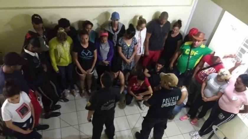 Migrantes son asegurados en hotel de Chiapas(Especial)