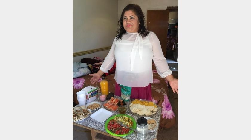 Juana Araceli Fortanelli es el vivo ejemplo de que cuando se quiere se puede y asegura, no es más caro comer saludable.(Eliana Alvarado)