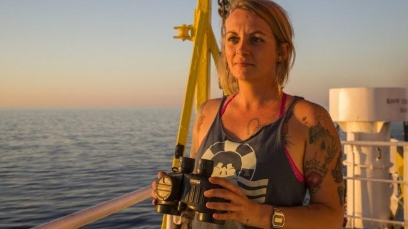La también bióloga fue detenida en Italia en 2017.(Solidarity at Sea)