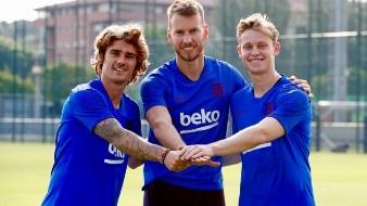 Así fue el primer entrenamiento de Griezmann con el Barça