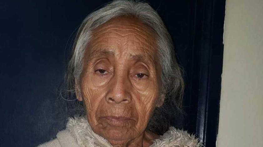 Eleodora García Suárez fue encontrada deambulando por calles de la delegación Otay Centenario.(Cortesía)
