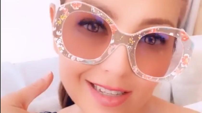 Thalía continúa expresando su felicidad por medio de Instagram.