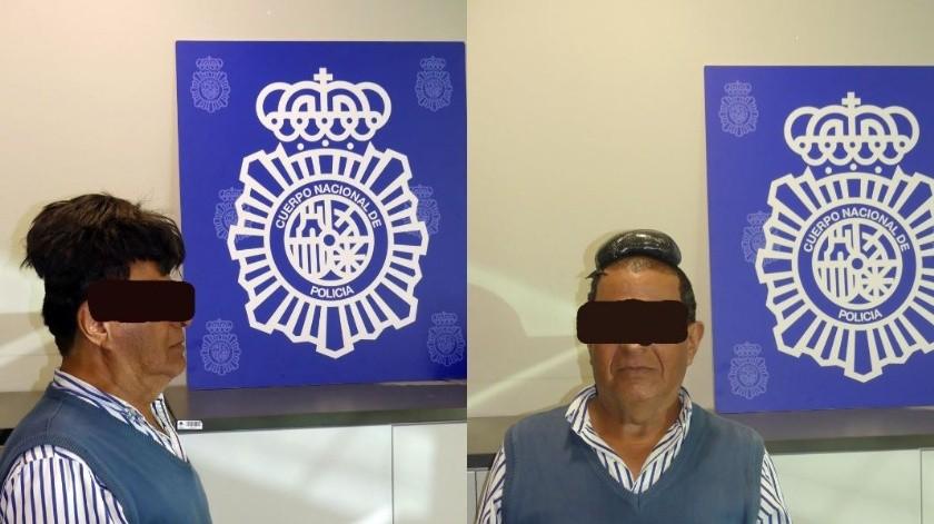 La Policía Nacional de España detuvo al delincuente en un aeropuerto de Barcelona.(@policia)