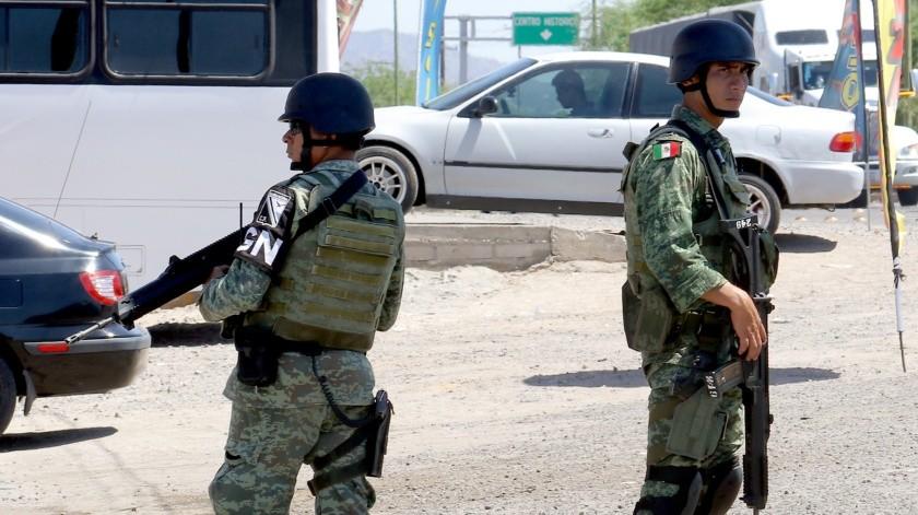 Guardia Nacional llegará a Hermosillo aproximadamente en dos semanas.