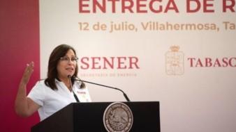 La ministra de Energía de México, Rocío Nahle, defendió este martes el plan de construcción de una nueva refinería.