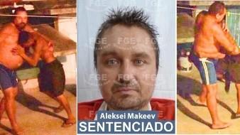 El ciudadano de origen ruso, Aleksei Makeev, que estuvo a punto de ser linchado en una colonia popular de Cancún, fue condenado a 37 años y seis meses de prisión.