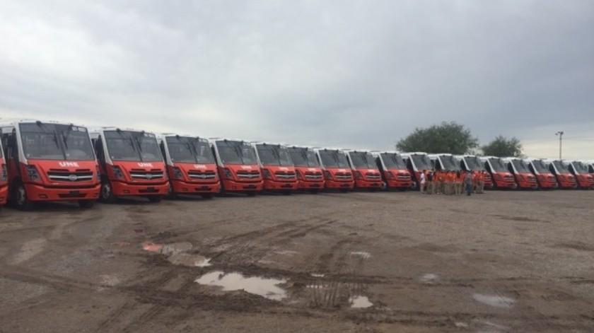 Nuevos camiones llegaron a Hermosillo para fortalecer el servicio de transporte.