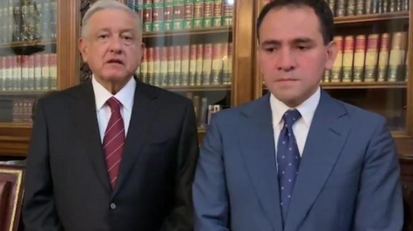 Ratifican a Arturo Herrera como titular de Hacienda(Captura de video)