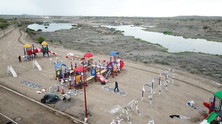 Hermosillenses ya empezaron a visitar el EcoParque.(Juan Hernández)