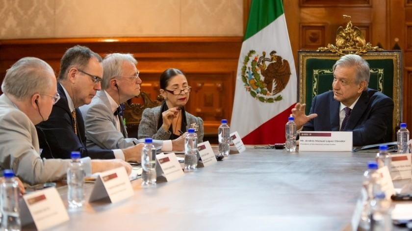 En una reunión con un grupo de congresistas de Estados Unidos, el presidente Andrés Manuel López Obrador dijo que el Tratado de México, Estados Unidos y Canadá (T-MEC) no es el fin del mundo.(Twitter)