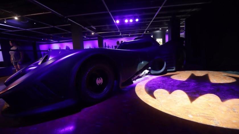El famoso murciélago estará hasta este domingo con más de mil piezas y dos actividades interactivas gratuitas al igual que la entrada al museo.(Gustavo Suárez)