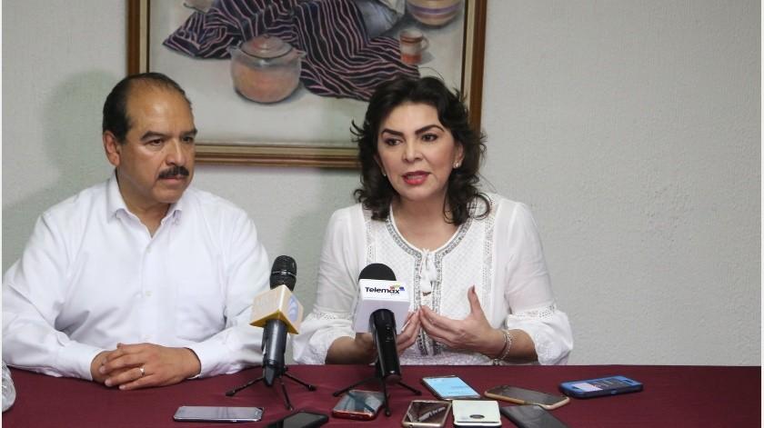La votación se realizará el 11 de agosto y los otros aspirantes son Alejandro Moreno Cárdenas y Lorena Piñón.(Gamaliel González)