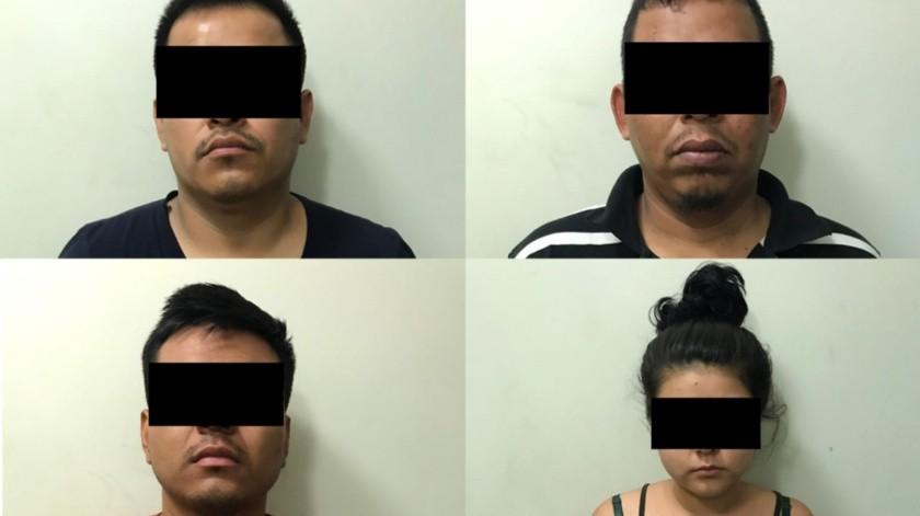 Los imputados son Jonathan N de 27 años, Jorge Alberto N de 37, John Kevin N de 21 años e Isela Guadalupe N de 20 años.(Cortesía)