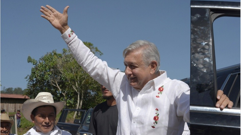 Acompañado solo por su personal de la Ayudantía, el presidente calificó dicha manifestación como una provocación.(GH)