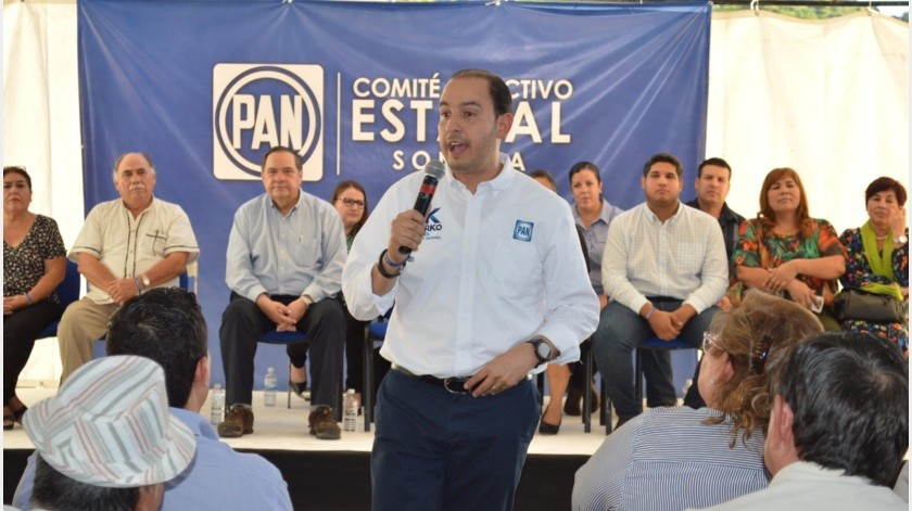 El Presidente Nacional del PAN, Marko Cortés, dio el banderazo de salida para iniciar los trabajos rumbo al 2021.(GH)