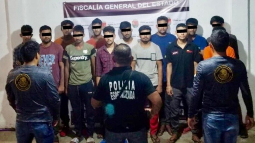 Rescatan a migrantes de India sometidos en Chiapas(Especial)