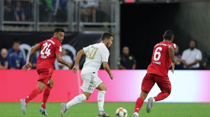 ¡Al 50! Hazard se estrena en derrota del Madrid vs Bayern(EFE)