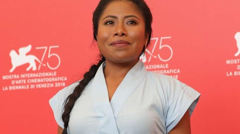 La nominada al Oscar por su trabajo en ROMA, estuvo esta tarde durante la presentación oficial de la campaña Cero Violencia Contra Mujeres(Tomada de la red)