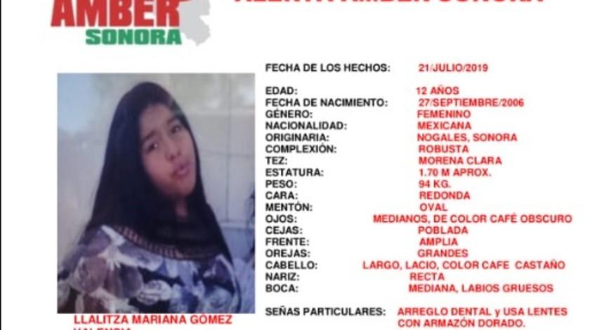 Se activó la Alerta Amber en Sonora por la desaparición de una menor.
