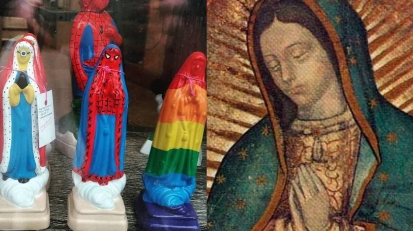 Figuras de la Virgen de Guadalupe LGBT genera desacuerdos(Tomada  de la Red)