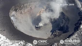 Como parte de las actividades del Centro Nacional de Prevención de Desastres (Cenapred) de la Coordinación Nacional de Protección Civil, se identificó la construcción de un nuevo domo en el volcán Popocatépetl.