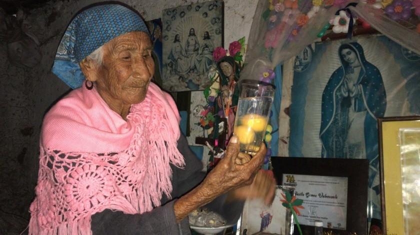 """Basilia Gómez, de la comunidad de Buiyarumo, asegura que cura """"el mal"""".(Jesús Palomares)"""