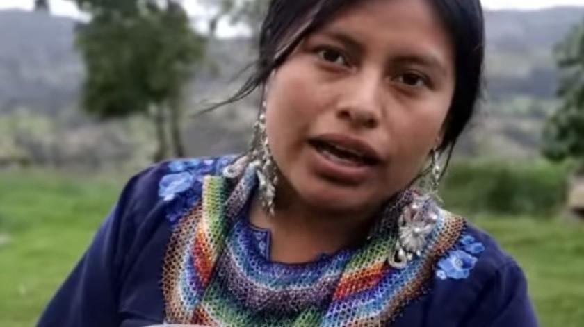 Nancy Riso, la primera youtuber indígena que rompe el Internet(Cortesía)
