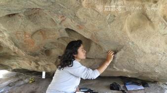 Las pinturas de El Vallecito fueron elaboradas con técnicas dactilares y con el empleo de pinceles y brochas
