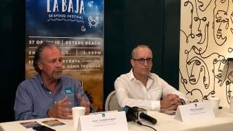 """Óscar Escobedo Carignan, secretario de Turismo informó sobre el evento """"Cocina la Baja, Seafood Festival 2019""""."""