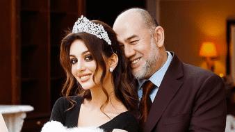 El rey de Malasia, Mohamed V, quedó deslumbrado ante la belleza de la exmodelo rusa Rihana Oksana Voevodina