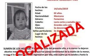 La menor había sido reportada como desaparecida el pasado 18 de julio.