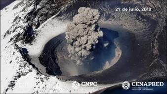 Las explosiones registradas y las emisiones con contenido de ceniza destruyeron el domo número 83 del volcán Popocatépetl.