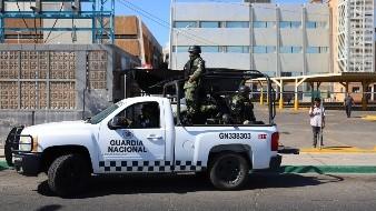 Rondan unidades de la Guardia Nacional Congreso de BC